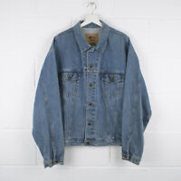 Vintage iD WEAR Classic Blue Trucker Denim Jacket Size Mens XXL XXLarge /R57030