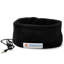 Sleep Mask Earphone Sleeping Headband wearable over ear Headphones headset Black