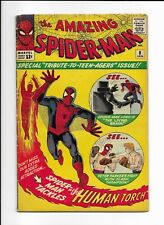 The Amazing Spider-Man #8 1964 /Human Torch/Jack Kirby/Steve Ditko - incomplete