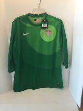NWT Nike USA Womens Soccer Goalie Goal keeper Jersey 3/4 Length 523749 Green XL