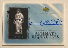 2001 UD Ultimate Collection GARY SHEFFIELD Signatures Auto Autograph /150