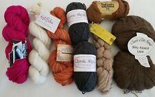 Alpaca Mixed Weight Yarn Lot 9 Skeins