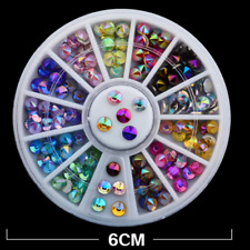 Multicolor 3D Sticker Acrylic Nail Art Crystal Shiny Stud Charms Manicure Decor