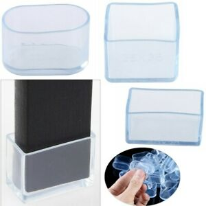 24Pcs Clear Silicone Chair Leg Caps Furniture Feet Pads Floor Protector for Home