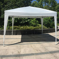 Kinbor 10'x10' Canopy Wedding Party Tent Heavy Duty Outdoor Gazebo, White/Blue