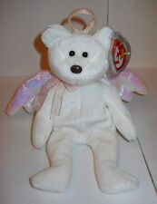 "TY BEANIE BABIES ""HALO"" 1998, 8 1/2"" PLUSH ANGEL BEAR W/WINGS & TAG PROTECTOR!"