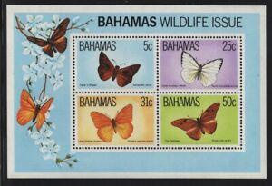 Bahamas 1983 Butterflies S/S Sc# 542a NH