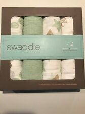 Aden + Anais Classic Muslin Swaddle 4-pack Muslin Unisex  greens NEW IN BOX