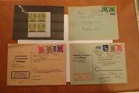 BRD Posthorn 3 Briefe MIFs 1 Mal Berliner Glocke , vierer Postfrisch mit Falz **