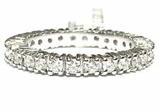 anello veretta eternelle oro bianco 18 kt diamanti ct 0,78 colore F purezza VVS1