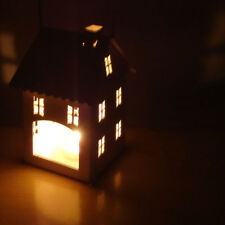Christmas Iron Tealight Candle Holder Metal Candlestick House Shaped Lighter