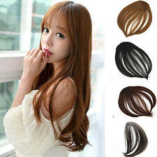 Hair Clip in Bangs Fake False Hair Piece Clip on Front Neat Bang Hair Extension
