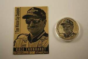 DALE EARNHARDT 2001 American Silver Eagle & Gold Card Set - LIMITED Serial #/201