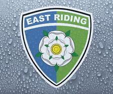 East Riding of Yorkshire County Shield-Imprimé Couleur Vinyle Autocollant-PRN 1063
