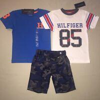 BOYS SIZE 4 TOMMY HILFIGER SET SHIRT SHORTS OUTFIT SET CLOTHES NWT
