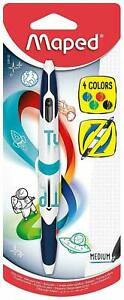 Helix Maped Twin Tip Ball Pen (Single Pack) 229120 - 4 COLOUR MAPED PEN