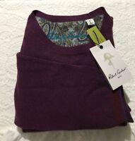 NWT$198Robert Graham Ray Brook 50/50Cotton Wool CrewNeck Pullover Sweater Mens L