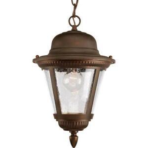 Progress Lighting Westport 1-Light Antique Bronze Outdoor Hanging Lantern