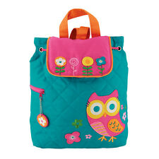 Stephen Joseph Girls Quilted Owl Backpack - Cute Toddler Preschool Book Bags