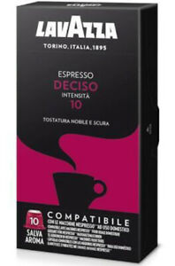 """Lavazza Espresso """"Deciso"""" Nespresso Compatible 100 Capsules Exp. July 2022"""