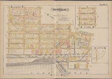 1891 G.M. HOPKINS BUFFALO NY, ERIE CANAL NY CENTRAL & HUDSON R.R. COPY ATLAS MAP