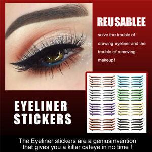 5 Pairs Eyeliner Stickers Makeup Eyeshadow Face Cat Eye Smokey Tape Cosmetic