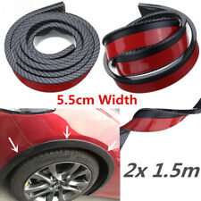 2x 55mm Carbon Style Wheel Arch Rubber Car Fender Flares Moulding Strip Universa