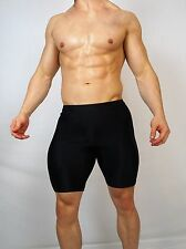 MEN'S BLACK SPANDEX USED Cycling SHORTS LARGE (VINTAGE)