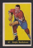 1960-61 PARKHURST # 41  RALPH  BACKSTROM  VG + CONDITION  INV  9750