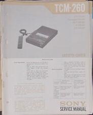Grabadora De Cassette Sony TCM-260 Manual de taller de reparación de servicio (copia Original)