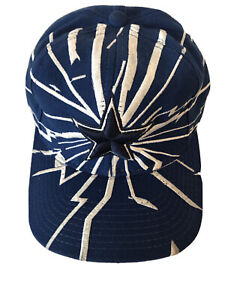 Vintage Dallas Cowboys Starter Hat Cap 1990s NFL Star Cracked Broken Design