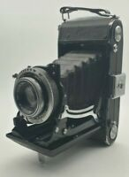 💥RARE Carl Zeiss Ikon Compur Tessar 1:3.5 F- 105mm Lens Vintage Folding Camera