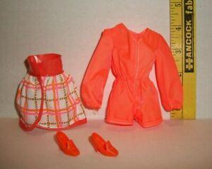Vintage BARBIE MOD TANGERINE SCENE 1970 REPRO REPRODUCTION MATTEL CLOTHES #1451