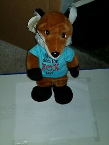 "Chantilly Lane Musicals; What does the FOX say?  12"" FOX; RARE; Very cute!"