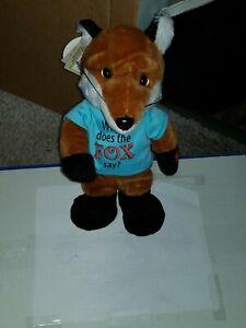 "Chantilly Lane Musicals; What does the FOX say?  12"" FOX; RARE; Very cute!"