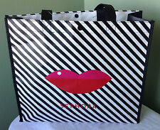 SEPHORA 2013 LIMITED EDITION LIPS STRIPED SHOPPER REUSABLE TOTE SHOULDER BAG NWT