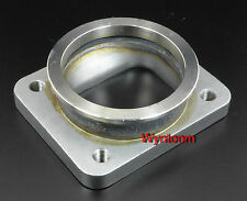 "T4 Undivided GTX Inlet To 3"" V Band 304 Stainless Steel Tapped M10X 1.25 Adapter"