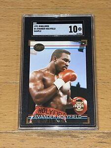 1991 Ringlords #1 Evander Holyfield Sample / Promo Card SGC 10 Boxing HOF