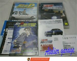 W/Leaflet USED S1 PS3 Initial D Extreme Stage Wangan Midnight 2 Set Japanese Ver