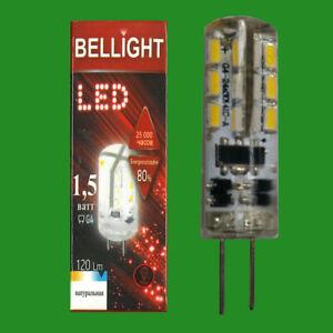 6x 1.5W G4 12V LED, 6500K Daylight White Light Bulb Halogen Capsule Replacement