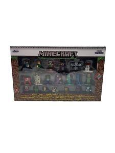 "Minecraft 20 Piece Die Cast Figures 1.65"" Scale Nano Metalfigs Jada New in Box"
