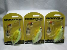Lot of 3 Booyah 3/8 Oz. Colorado-Indiana Blade 'Coleslaw' Spinnerbait Bybci38638
