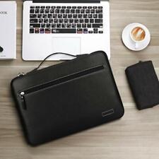 MacBook Pro 15 2018 2017 2016 Sleeve Case Hand Bag Leather Large Capacity Black