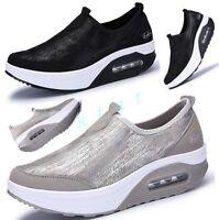 Korean Athletic Womens Creepers Wedge Casual Fashio Shoes Fashion Sport Sneaker