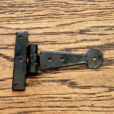 COPPIA da 4 Pollici T Cerniere Tee Cerniera Cinturino Cerniere Nero Vintage ferro battuto Penny