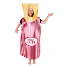 Adult Funny French Fries Food Drink Costume Outfit Suit Halloween One Size