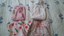USED 4 Gymboree 18-24 Months 2T Dress Romper Veggies Flowers Turtle Girl Bug LOT