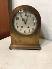 Large Antique Lenzkirch Brass Arch Top Mantle Clock Restoration Project