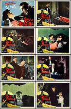 SON OF DRACULA LON CHANEY JR Complete Set Of 8 Individual 11x14 LC Prints R-48