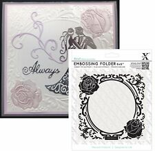 Xcut embossing folders - Rose Frame embossing folder 6x6 wedding all occasion